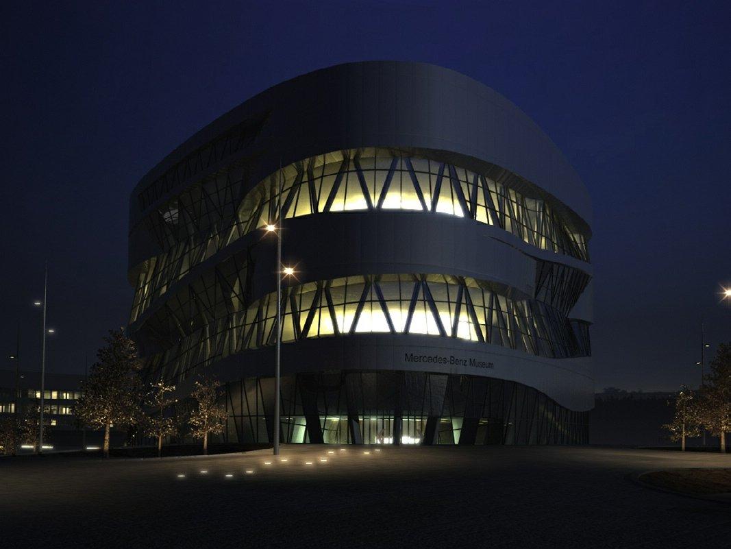 رندر موزه مرسدس بنز آلمان