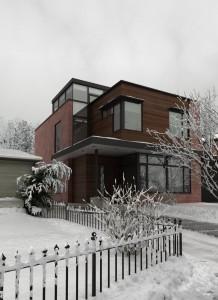 صحنه خانه برفی زمستان نما چوب مدل آماده رندر | ZA6AE0809