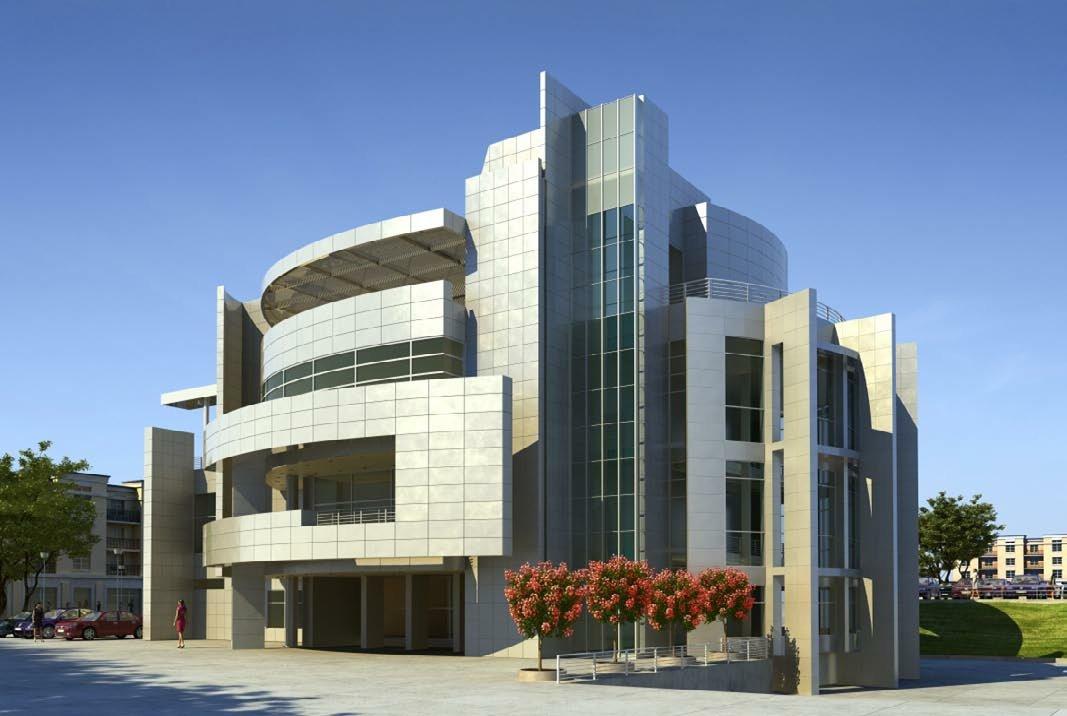 رندر ساختمان شرکت تجاری لندسکیپ