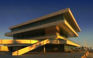 صحنه ساختمان تجاری اداری غروب مدل آماده رندر | ZA6AE0908