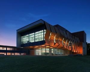 صحنه ساختمان فانتزی تجاری اداری فضای سبز چمن نما خاص مدل آماده رندر | ZA6AE0909