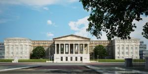 صحنه ساختمان سنای آمریکا کاخ سفید مدل آماده رندر | ZA6AE1109