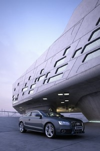 صحنه ساختمان تجاری اداری ماشین آئودی پارکینگ مدل آماده رندر | ZA6AE1201