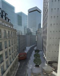 صحنه شهر لندن برج آسمانخراش خیابان مدل آماده رندر | ZA6AE1405