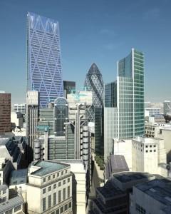 صحنه شهر لندن ساختمان بلند کوتاه برج آسمانخراش مدل آماده رندر | ZA6AE1406