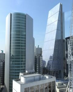 صحنه شهر لندن برج آسمان خراش جرثقیل مدل آماده رندر | ZA6AE1408