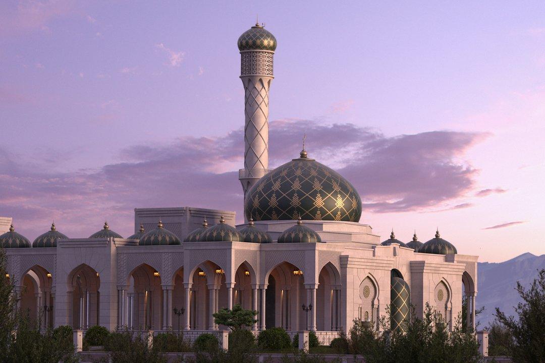 رندر مسجد هند