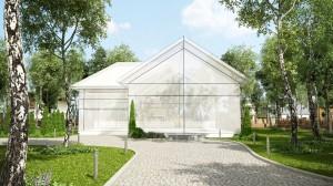 صحنه خانه ویلا لندسکیپ درخت پیاده رو سنگی مدل آماده رندر | ZA6AE1804
