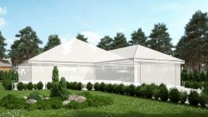 صحنه خانه باغ ویلا شمشاد درخت چمنزار لندسکیپ صندلی راحتی باغچه مدل آماده رندر | ZA6AE1806