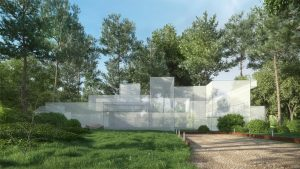 دانلود رندر ویلا چمن شمشاد جنگل نورپردازی روز مدل آماده رندر تری دی مکس وی ری | ZA6AE1903