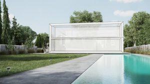 دانلود رندر ویلا چمن استخر مدل آماده رندر تری دی مکس وی ری | ZA6AE1907
