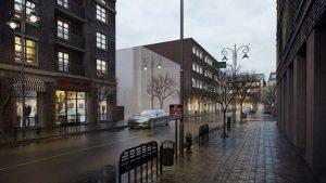 دانلود رندر ویلا خیابان بارانی نورپردازی شب مه آسفالت ویترین مغازه بوتیک پیاده رو مدل آماده رندر تری دی مکس وی ری | ZA6AE1909