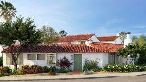 دانلود رندر خانه ویلایی سقف شیروانی آردواز باغچه خیابان مدل آماده رندر تری دی مکس وی ری | ZA6AE2202