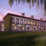 دانلود رندر هتل نورپردازی شب چمن معماری قدیمی کلاسیک مدل آماده رندر تری دی مکس وی ری | ZA6AE2209