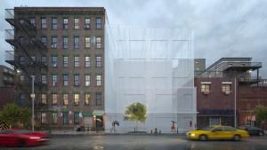 دانلود رندر روز بارانی باد شهر بارانی آسفالت خیس ساختمان مسکونی نما آجر مدل آماده رندر تری دی مکس وی ری | ZA6AE2409
