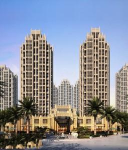 دانلود رندر برج دوقولو تجاری مسکونی استوایی رندر ظهر مدل آماده رندر | ZA5Bex0103